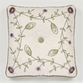 Blossom Tufted Pillow Lavender 18 Square
