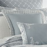Ansonia Flanged Pillow Sterling Blue 16 Square