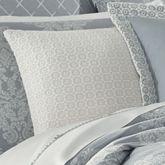 Ansonia Crochet Tailored Pillow Off White 16 Square