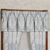 Ansonia Damask Tailored Valance Sterling Blue 88 x 15.25