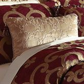 Shasta Embroidered Pillow Antique Gold Rectangle