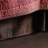 Rushmore Kick Pleat Bedskirt Light Chocolate