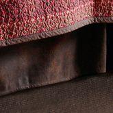 Rushmore Kick Pleat Bedskirt Light Chocolate