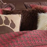 Rushmore Faux Fur Pillow Cocoa 18 Square