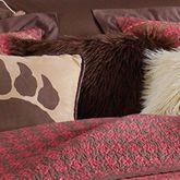 Rushmore Faux Fur Pillow Cocoa 18 Square