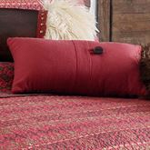 Rushmore Tailored Pillow Scarlet Rectangle