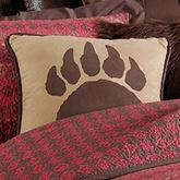 Rushmore Bear Claw Piped Pillow Camel 18 Square