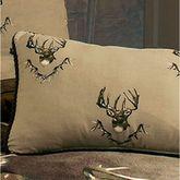 Whitetail Ridge Corded Pillow Tan Rectangle