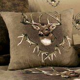 Whitetail Ridge Tailored Pillow Brown 20 Square