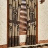 Whitetail Ridge Curtain Pair Brown 84 x 84