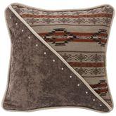 Silverado Studded Piped Pillow Multi Earth 18 Square