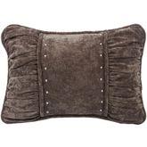 Silverado Studded Shirred Pillow Multi Earth Rectangle