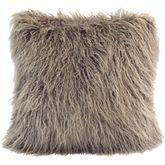Silverado Faux Fur Tailored Pillow Multi Earth 18 Square