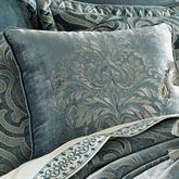 Sicily Teal Embroidered Pillow Teal 20 Square
