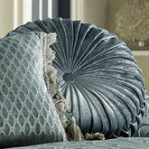 Sicily Teal Tufted Pillow Teal Round