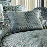 Sicily Teal Tasseled Pieced Pillow Teal Rectangle