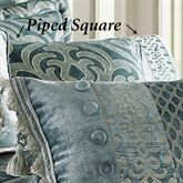 Sicily Teal Piped Pillow Teal 20 Square
