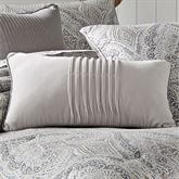 Mykonos Pleated Piped Pillow Gray Rectangle