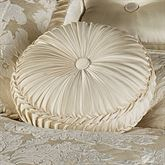 Classique Tufted Round Pillow Pearl Round