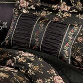 Astoria Piped Rectangle Pillow Black