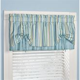 Clearwater Layered Tie Valance Multi Cool 60 x 18
