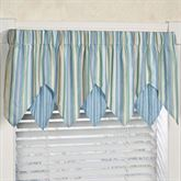 Clearwater Layered Ascot Valance Multi Cool 60 x 18