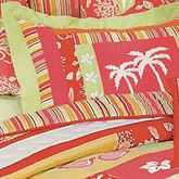 Tropical Paradise Quilted Sham Coral Standard