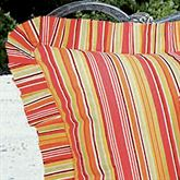 Tropical Paradise Striped European Sham Coral European