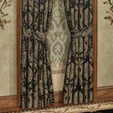 Bellevue Wide Tailored Curtain Pair Black