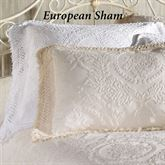 Antique Medallion Fringed European Sham