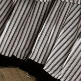 Toile de Jouy Gathered Bedskirt Black