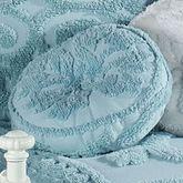 Illusion Round Drum Pillow Pastel Blue Round