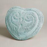 Illusion Heart Pillow Pastel Blue Heart