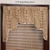 Cotillion Wide Swag Valance Tawny 72 x 34