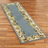 Paradise Border Rug Runner Blue Shadow