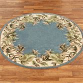 Paradise Border Round Rug Blue Shadow 56 Round