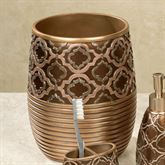 Spindle Wastebasket Bronze