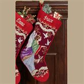 Angel with Doves Stocking Multi Warm