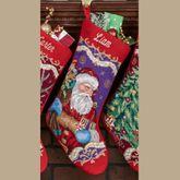 Santa Claus Stocking Multi Warm
