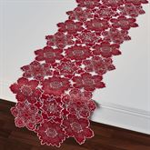 Snowflake Cutout Table Runner Dark Red