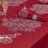Snowflake Cutout Placemats Dark Red Set of Four