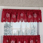 Snowflake Tailored Valance Dark Red 60 x 12