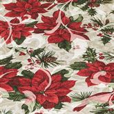 Poinsettia Cardinals Round Tablecloth Red 70 Diameter