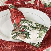 Poinsettia Cardinals Napkins Red Set of Four