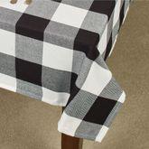 Rustic Buffalo Plaid Oblong Tablecloth Black/White