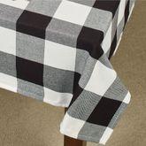 Rustic Buffalo Plaid Square Tablecloth Black/White