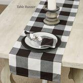 Rustic Buffalo Plaid Table Runner Black/White 16 x 72
