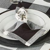 Rustic Buffalo Plaid Napkins Black/White Set of Four