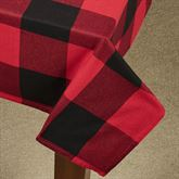 Rustic Buffalo Plaid Square Tablecloth Red/Black