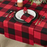 Rustic Buffalo Plaid Table Runner Red/Black 16 x 72